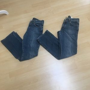 Two pairs of Lucky (Gene Montesano) jeans